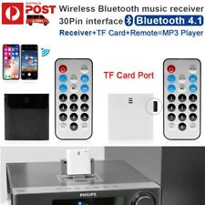 Bluetooth V4.1 Music Audio Receiver iPod iPhone 30Pin Philips JVC Sony Bose Dock