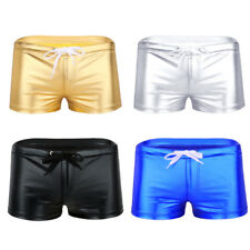 Mens Sexy Lingerie Boxer Brief Shorts Bikini Drawstring Underwear Underpants