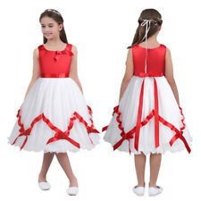 Kids Princess Party Wedding Bridesmaid Formal Occasion Pageant Flower Girl Dress