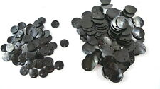 24 BLACK Dyed Flat Round Shell Charms Pendants Coin Drops 10mm/15mm