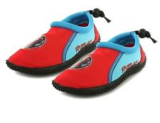 Childrens Boys Spiderman Wet Shoes Beach Water Aqua Boots Size 6 7 8 9 10 11