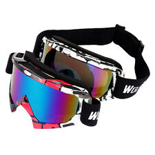 WOLFBIKE Snow Googles Windproof UV400 Motorcycle Snowmobile Ski Goggles Eyewear