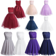 Flower Girl Dress Princess Pageant Wedding Bridesmaid Birthday Party Kid Dresses