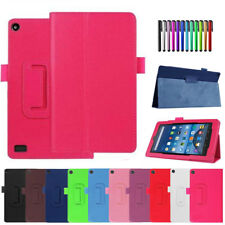 PU Leather Stand Flip Case Cover For Amazon Kindle Fire HD 7 8 10 2017 7th Gen