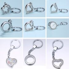 Silver 25MM Living Memory Floating Charm Locket Magnetic Key Chain Keyring Gifts
