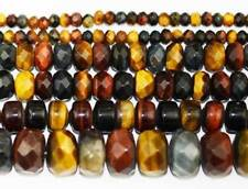 """5x8MM 8x12MM Rondelle Faceted Multicolor Natural Tiger's EyeGemstone Beads 15"""""""