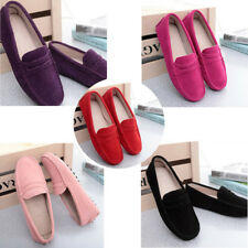 Women's Loafers Suede leather Driving Shoes Moccasins Slipper Flats Casual