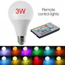 E27 3W 85-265V RGB LED Lamp Light Bulb Changing 16 Colors +IR Remote Control #nn
