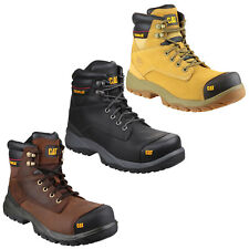 CAT Caterpillar Spiro Mens Water Resistant Safety Leather Work Boots UK6-12