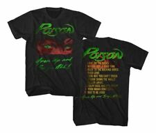 NEW Officially Licensed Poison Open Up T-Shirt Rock Band