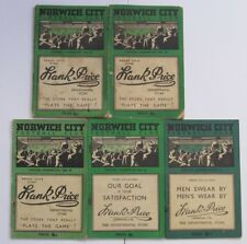 Norwich City Handbooks 1946/47 to 1950/51. Select item from the list.