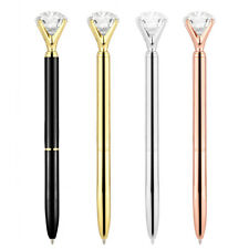 3 pcs Ballpoint Big Rhinestone Crystal Pens Office School Supply Stationery Gift