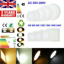 DIMMABLE LED RECESSED DOWNLIGHT CEILING PANEL FLAT LIGHT LAMP BULB THIN + DRIVER