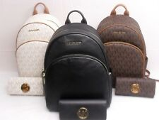 NWT Michael Kors Abbey Large PVC or Leather Backpack Fulton Wallet Choose Color