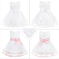 Baby Toddler Girl Princess Flower Dress Party Wedding Birthday Formal Gown Dress