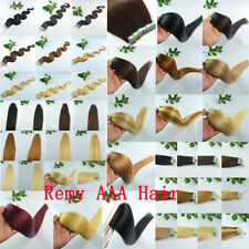 20pcs 50g 60g Women Seamless Human Remy AAA Hair Extension Tape In Weft 20'' NEW
