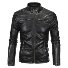 Motorcycle Leather Jackets PU Business Casual Coats Racing Outerwear Motocross