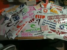 Lot of OVER 45 surf, skate and popular decal collection, stickers, vans, DC etc.