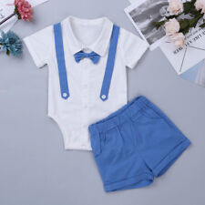 Baby Boys Kids Toddlers Gentlemen Tie Shirt+Pants Tuxedo Romper Suits Outfits