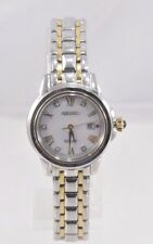 Ladies Seiko SUT244 LGS Two Tone Stainless Diamond Accent MOP Solar Dial Watch