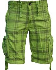 Red Bridge by Cipo & BAXX CARGO SHORTS rb-1204 Green Check