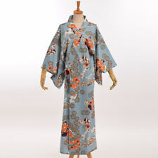 Japanese Girl Costume Robe Haori Dress with Belt Vintage Kimono Yukata Gown