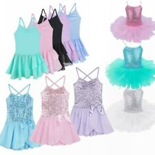 Girls Party Costume Ballet Tutu Dance Dress Kids Leotard Toddler Dancewear Skirt