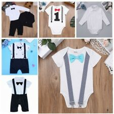 Newborn Baby Boy Gentleman Romper Jumpsuit Bodysuit Playsuit Outfit Suit Clothes