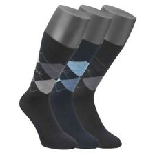 Mens Jockey 3 Pair Pack Of Quality Cotton Rich Argyle Patterned Casual Socks