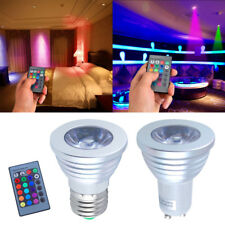 GU10 E27 RGB LED Bulb Light Lamp Color Changing Party Flash Light+Remote Control