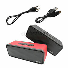 Portable Bluetooth Wireless Stereo Speaker TF Mic For Tablet PC iPhone Samsung