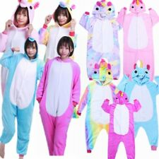 Cute Cartoon Unicorn Sleepwear Animal Hooded Costume Cosplay Pyjamas Nightwear