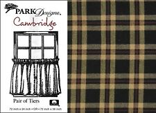 Plaid Tiers, Cambridge by Park Designs, Black, Red & Tan, Choice of Two Sizes