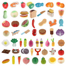 Wooden Pretend Magnet Fruits Vegetables Kitchen Food Cutting Child Role Play Toy