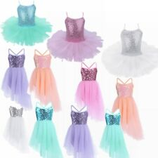 Girls Kids Party Ballet Costume Tutu Bodysuit Leotard Skirt Dancewear Dress