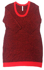 Bobbie Brooks Womens Plus  Size 3/4 Sleeve Scoop Neck Knit Dress Red CHOOSE SIZE