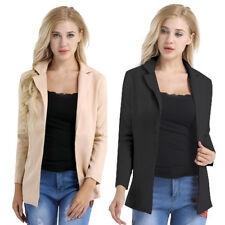 Hot Fashion Womens Ladies Suit Coat Long Sleeve Jacket Business Blazer Outwear