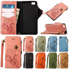 For Huawei P8 P9 P10 Lite PU Leather Flip Case Wallet Card Holder Cover Stand