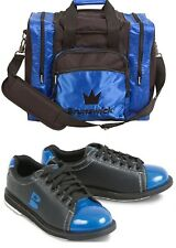 Womens Brunswick TZone Bowling Shoes Black/Blue Sizes 6-11 & Matching 1 Ball Bag
