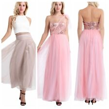 Women Evening Dress Sequin Bridesmaid Formal Prom Ball Gown Wedding Long Dresses