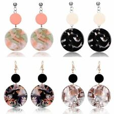 Fashion Round Coin Drop/Dangle Ear Stud Earrings Women Mother's Day Gift Jewelry