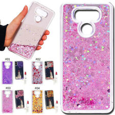 3D Glitter Quicksand TPU Silicone Rubber Soft Back Cover Case For LG G6/G6 Plus