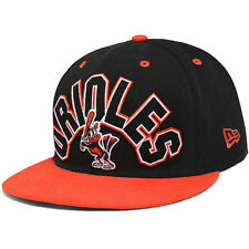Baltimore Orioles New Era Big Word 59FIFTY Fitted Hat - Black/Orange
