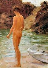 Nude Boy by Henry Scott Tuke (classic male art print)