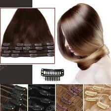 Top 10Inches - 22Inches Clip In Remy 100% Human Hair Extensions Full Head US MX2