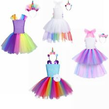 Kids Girls Cartoon Costume Role Play Tutu Dress Party Princess Cosplay Outfit