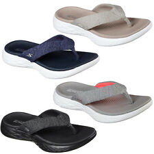 Skechers On The Go 600 Preferred Flip Flops Womens Toe Post Sandals Slides 15304