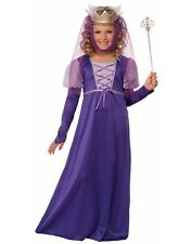 Renaissance Queen Girls Child Fairytale Halloween Princess Costume
