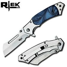 "Rteck 4.75"" Spring Assisted Cleaver Pocket Folding Razor Knife Hunting Camping"