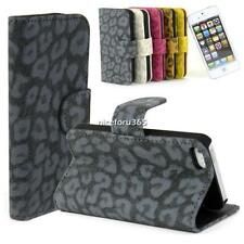 Hot New Leopard Leather Wallet ID Card Folio Flip Hard Case Cover Good N4U8 01